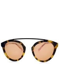Westward Leaning Sand Tortoiseshell Flower 13 Sunglasses Rose Gold