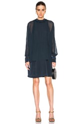 3.1 Phillip Lim Dolman Sleeve Dress In Blue