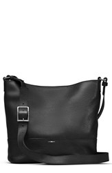 Shinola Small Relaxed Leather Hobo Bag Black