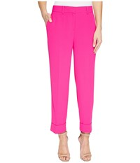 Vince Camuto Cuffed Crop Pants Electric Pink Women's Casual Pants