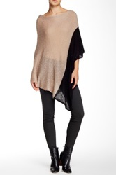 Wooden Ships Colorblock Poncho Beige