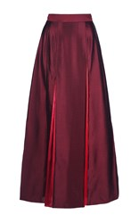 Roksanda Ilincic Kaldiya Pleated Skirt Burgundy