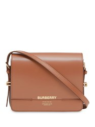 Burberry Small Two Tone Leather Grace Bag Brown