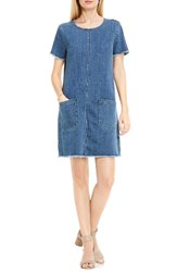 Vince Camuto Women's Two By Frayed Denim Shift Dress