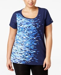 Ideology Plus Size Graphic T Shirt Only At Macy's Navy Serenity