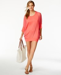 Coco Reef Chiffon Combo Cover Up Women's Swimsuit Coral