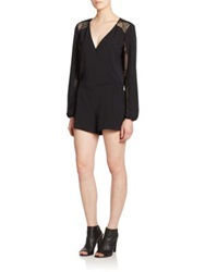 Parker Ross Mesh Panel Short Jumpsuit Black