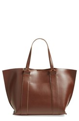 Sole Society 'Ravin' Tote Brown Brown Coffee