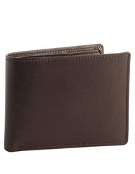Perry Ellis Leather Passcase Wallet Brown
