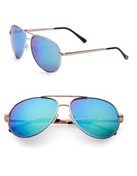 Vince Camuto 63Mm Aviator Sunglasses Rose Gold