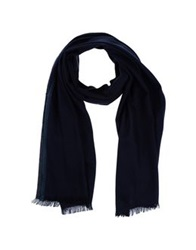 Michael Kors Oblong Scarves Dark Blue