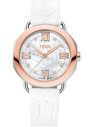 Fendi Selleria Watch White