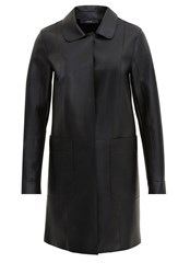 Hallhuber Faux Leather Faux Leather Coat Black