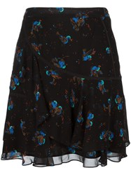 Coach Bird Print Skirt Black