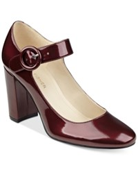 Marc Fisher Shaylie Mary Jane Pumps Women's Shoes Red Patent
