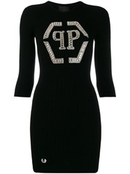 Philipp Plein Knit Day Dress Black