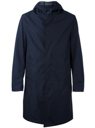 Mackintosh Hooded Trench Coat Blue