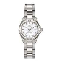 Tag Heuer Aquaracer Diamond Dial 27Mm Watch Unisex White