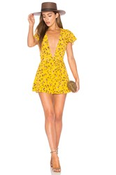 Privacy Please X Revolve Goodwin Romper Yellow