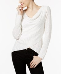 Inc International Concepts Draped Crossover Top Only At Macy's Washed White