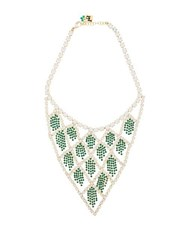 Rosantica By Michela Panero Divinita Crystal Necklace Green