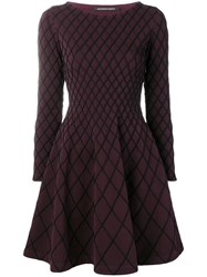 Antonino Valenti Geometric Pattern Dress Black
