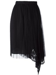 N 21 No21 Asymmetric Lace Skirt Black