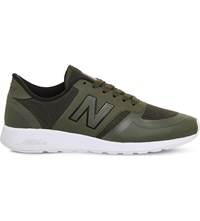 New Balance 420 Low Top Mesh Trainers Olive Black