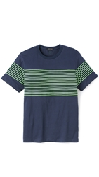 Surface To Air Albin T Shirt Navy Fluoro Green