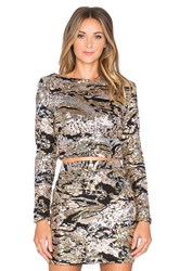 Wyldr First Class Long Sleeved Top Metallic Gold