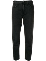 Current Elliott Cropped Tapered Jeans Grey