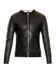 Dolce And Gabbana Perforated Leather Bomber Jacket
