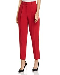 Emporio Armani Cropped High Waisted Pants Red