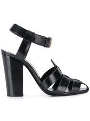Saint Laurent Chunky Strap 110 Sandals Black