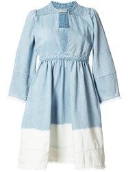 Ulla Johnson 'Alina' Smock Dress Blue