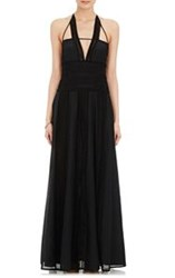 Thakoon Lace Inset Maxi Gown Black Size 4 Us