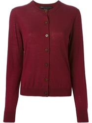 Marc By Marc Jacobs Round Neck Cardigan Red