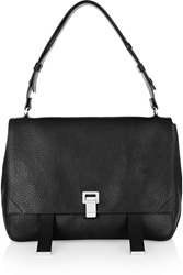 Proenza Schouler Ps Courier Large Textured Leather Shoulder Bag