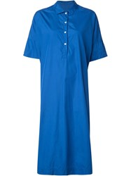 Casey Casey Button Down Tunic Dress Blue