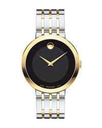 Movado 39Mm Esperanza Watch Silver Gold Silver Gold