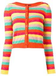 Boutique Moschino Striped Cropped Cardigan