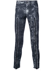 Tom Rebl Line Detail Skinny Jeans Blue