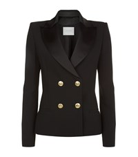 Balmain Pierre Double Breasted Gold Button Jacket Female Black