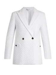 Blaze Milano Mmm Pool Quilted Bamboo Blend Blazer White