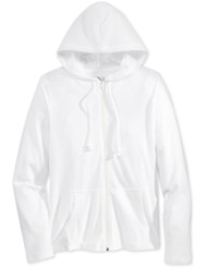American Rag Men's Lightweight Full Zip Hoodie Only At Macy's Bright White