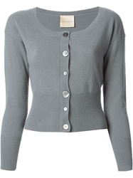 Erika Cavallini Semi Couture Cropped Cardigan Grey