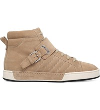 Ralph Lauren Purple Label Barx Suede High Top Trainers Beige