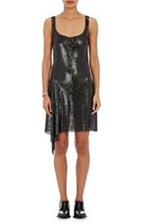 Paco Rabanne Lace Up Chain Mail Tank Dress Black