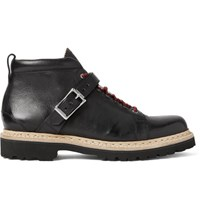 Heschung Richmond Buckled Full Grain Leather Boots Black