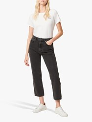 French Connection Lillian High Waist Straight Jeans Washed Black